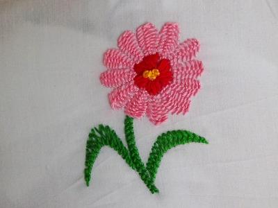 Hand Embroidery: Certain stitch (Kashmiri Tanka)