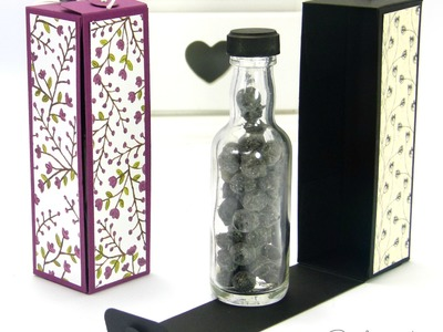 Hinged Floral Bottle Box Tutorial using Stampin' Up! DSP