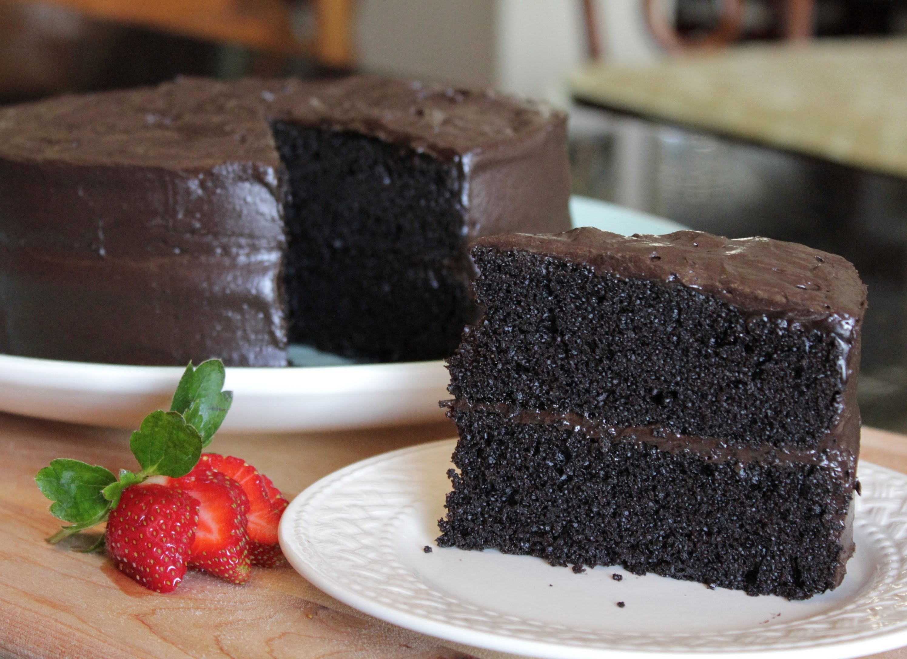 Homemade Delicious Especially Dark Chocolate Cake - The Best Cake Recipe from Hersheys