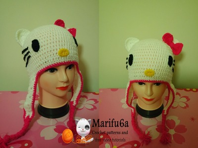 How to crochet hello kitty hat free pattern by marifu6a