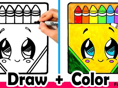 How to Draw a Crayon Box Cute + Easy