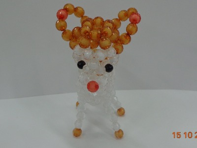 How to make a Beaded deer  beaded bead Tutorial-part 1- hướng dẫn kết cườm