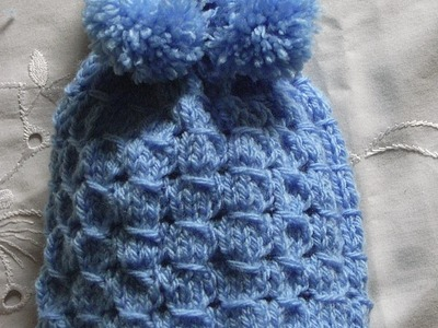 Kindermütze stricken*Baby Mütze*Baby hat with knit collarTutorial Handarbeit