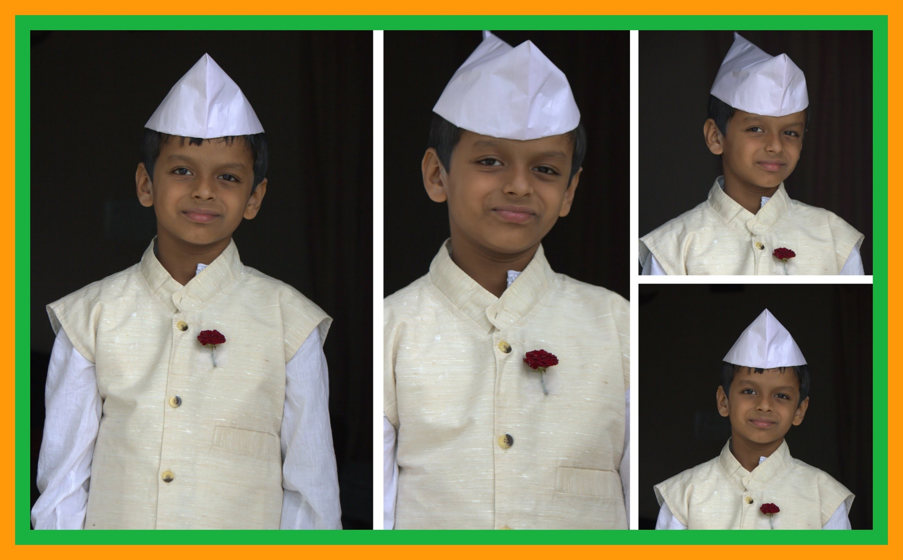 Origami - Indian Cap(Gandhi. Jawaharlal Nehru Topi) - Using Newspaper - Very easy !