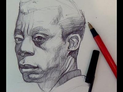 Pen & Ink Drawing Tutorials | Ballpoint pen portrait demo