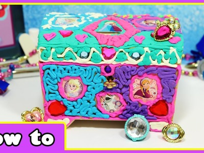 Play Doh DohVinci Disney Frozen Elsa and Anna Jewelry Box by HooplaKidz How To