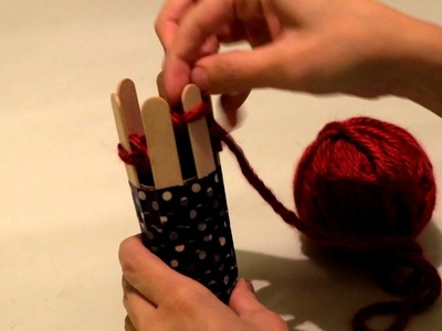 Toilet Paper Roll Loom Knitting