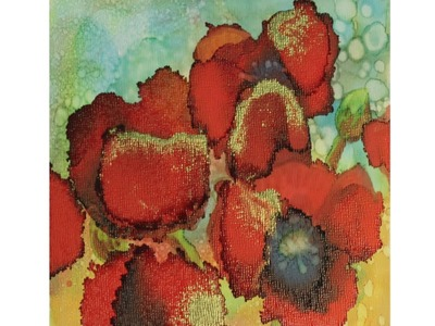 Alcohol Ink: Poppies Tutorial