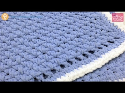 Crochet Beginners Baby Blanket Tutorial