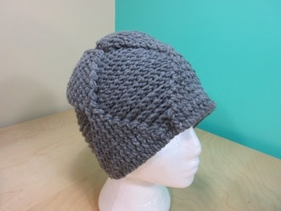 Crochet men's or adults  hat  reversible. With Ruby Stedman