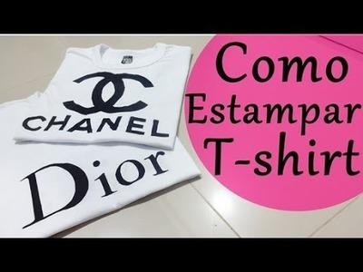 ✂ DIY   Como estampar t-shirts, camisetas, tecido.  por Ludmila Maltez
