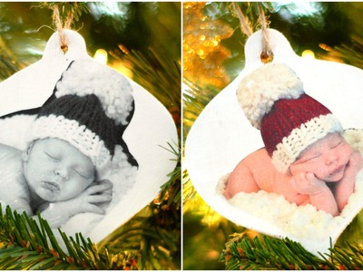DIY Photo Christmas Ornaments | How To Transfer a Photo to Wood!