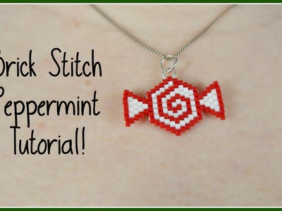 DIY Seed Bead Peppermint [[ Collab with SoCraftastic! ]]. Bead Weaving. ¦ The Corner of Craft