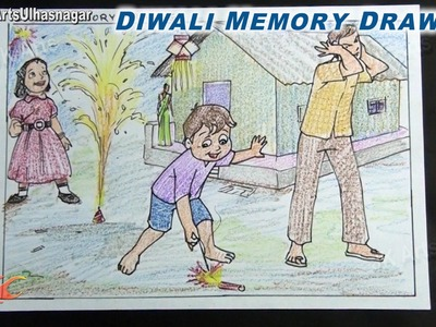 Happy Diwali Memory Drawing  | How to Draw | JK Arts 722