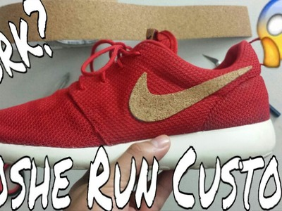 "How to Custom Roshe Run | ""Cork"" Swoosh 