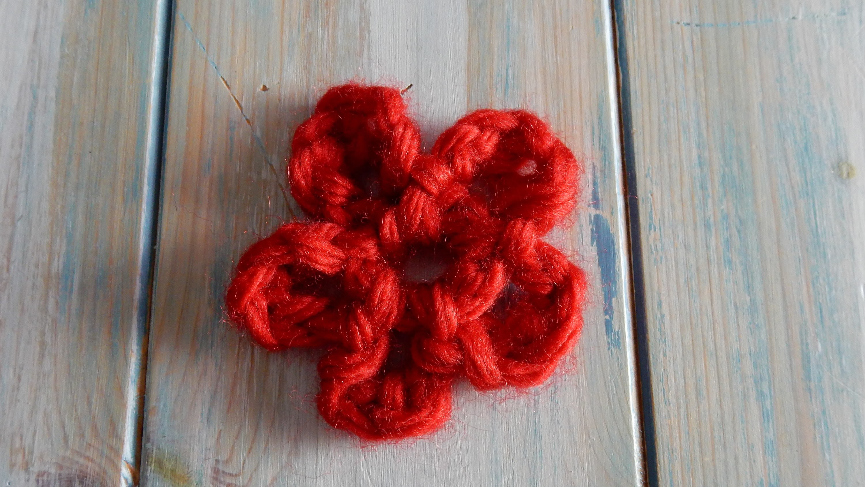 How to Finger Crochet a Flower