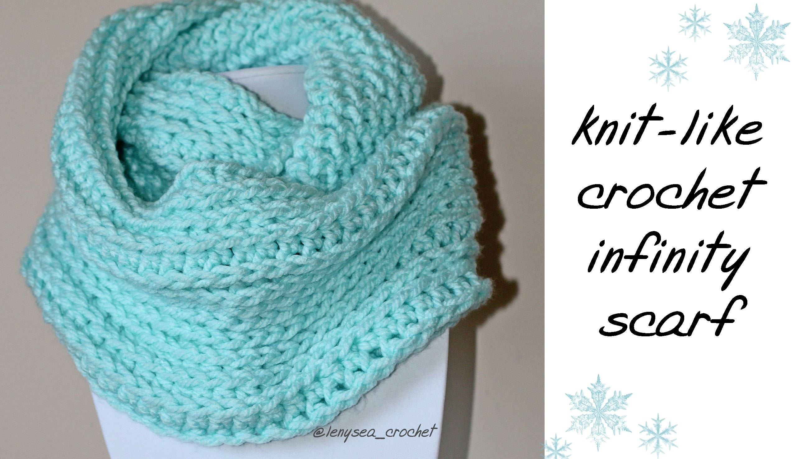 How To Knit-Like Crochet Infinity Scarf