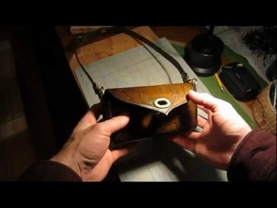 Making a molded leather purse tutorial