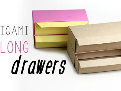 Origami Drawers Tutorial - Long Version ♥
