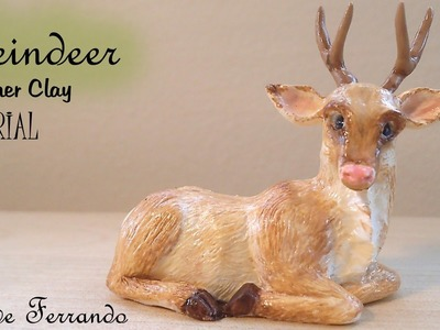 Polymer Clay Reindeer Tutorial