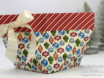 Pootles Advent Countdown #11 Enormous Self Close Bag Tutorial