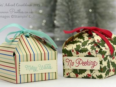 Pootles Advent Countdown #9 Envelope Punch Board Retro Tab Tie Box Tutorial