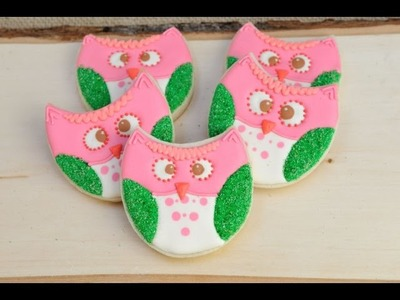 PRETTY WOODLAND OWL COOKIES, HANIELA'S