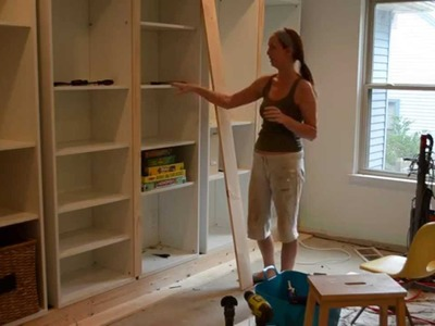 Smart Girls DIY - Turning IKEA shelves into built-ins (part 2)