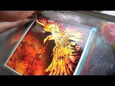 "Spray paint Art by Brent Willis ""PHOENIX FEATHER X"""
