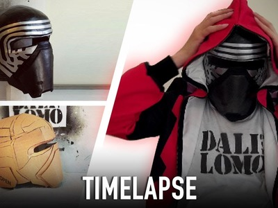 Timelapse - Making Kylo Ren Helmet | Star Wars 7 | Costume Prop | How To | Dali DIY