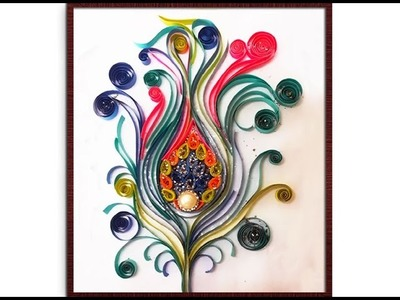 Wall Decoration Idea : How to make Beautiful Quilling DIY Craft for Your Walls