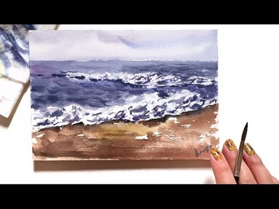 Watercolor Ocean Waves Demonstration
