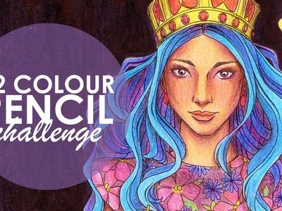 12 Coloured Pencil Challenge