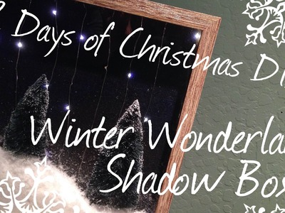 DIY Christmas Tree Shadow Box ♥ 12 Days of Christmas DIYs