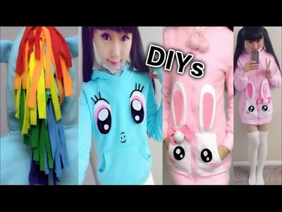 DIY Cute Winter.Fall Coats: DIY My Little Pony Rainbow Dash Hoodie + DIY Bunny Pocket Coat + Haul
