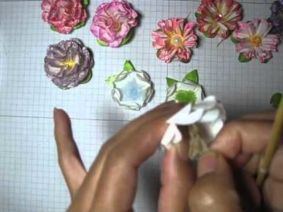 DIY:Easy to make paper flower # 3 by SaCrafters:How to: