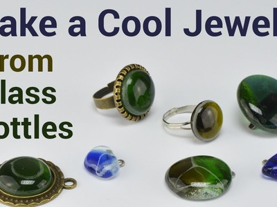 DIY Jewelry from Glass Bottles | Microwave Kiln
