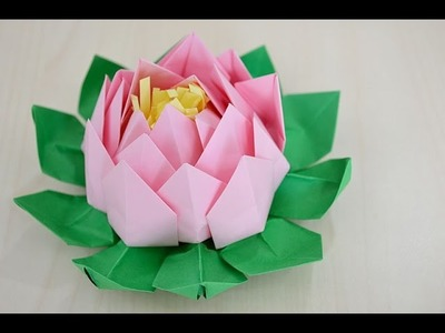 Easy origami flower Lotus  - How to make origami flowers lotus very COOL!