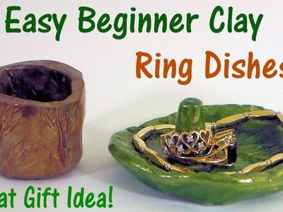 Easy Polymer Clay Ring Dishes! {a perfect gift!}