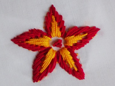 Hand Embroidery: Loose Flower Stitch