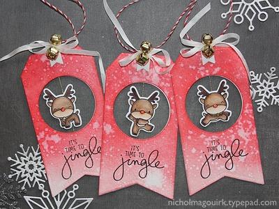 Handmade Holiday 2015 | Reindeer Games Spinner Tags