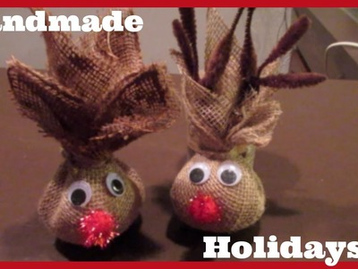 Handmade Holidays: Burlap Reindeer Kid's Craft & Gift Idea! beingmommywithstyle