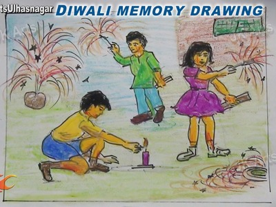 Happy Diwali Memory Drawing  | How to Draw | JK Arts 754