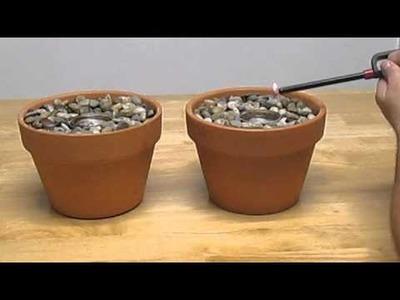 Homemade Indoor Gel Fireplace Pot.SHTF emergency cooking