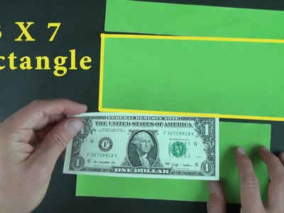 How to cut a dollar shape from a square