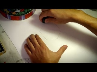 How to Draw a 6-Equal-Part Hexagon : How to Draw