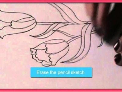 How to draw TULIP FLOWERS in easy steps  Drawing Tutorial forchildren