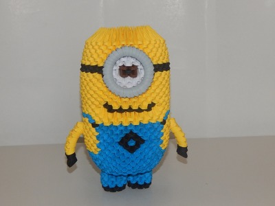 How to make 3d origami minion part3