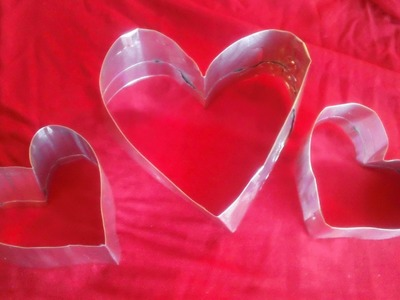 How to make a heart shaped cookie cutter.pancake shaper for Valentine's Day