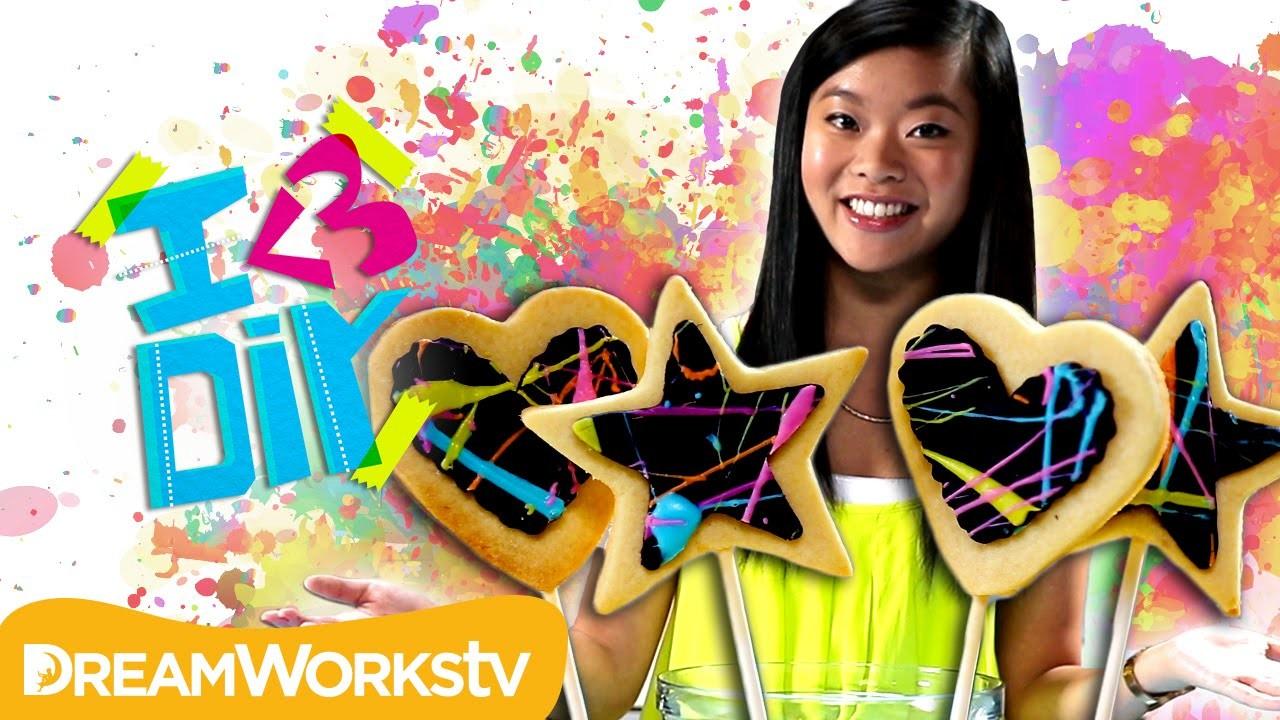 Kawaiisweetworld's Neon Splatter Paint Cookies | I ♥ DIY